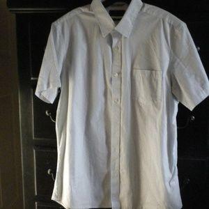 Nordtrom Men's Shop Trim Fit Shirt Short Sleeve L